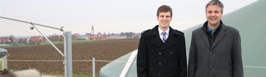 Johannes Deubler und Michael Deibler - Biogasanlage Manfred Rummel Alerheim