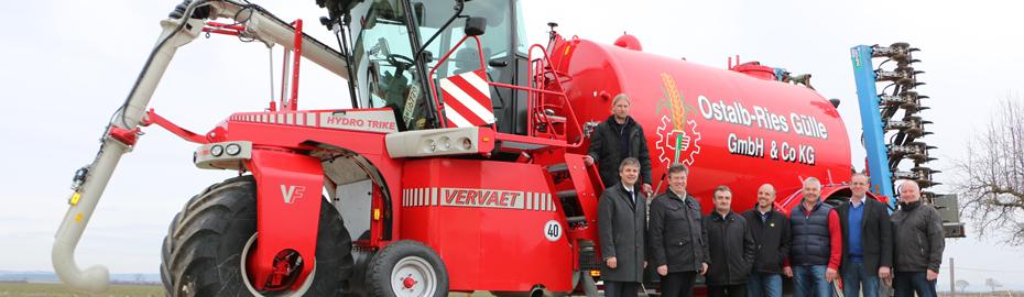 Eine große Investition - Ostalb-Ries Gülle GmbH