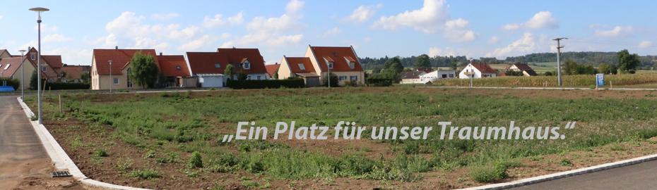 Neues Baugebiet in Herkheim - Sprechen Sie mit uns über Finanzierungsmöglichkeiten