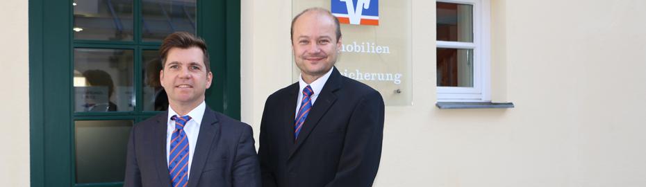 Unsere Versicherungsexperten Marcel Strobel (links) und Steffen Simon beraten Sie!